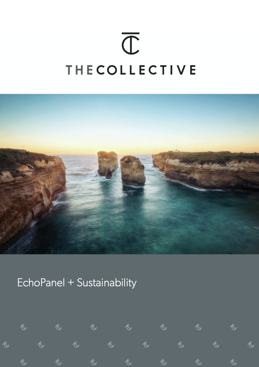EchoPanel Sustainabiltiy brochure