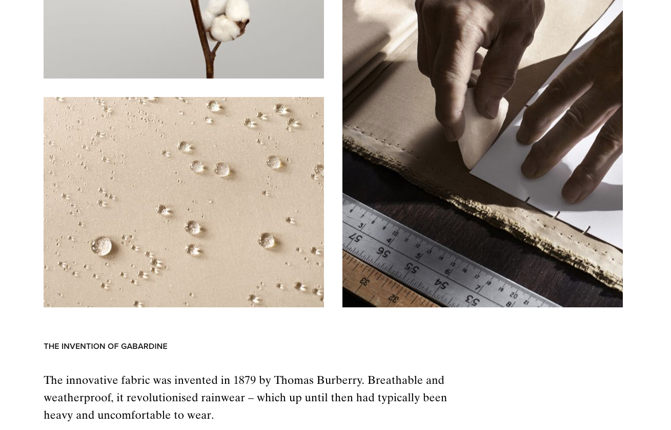 Burberry's Website Craftmenship