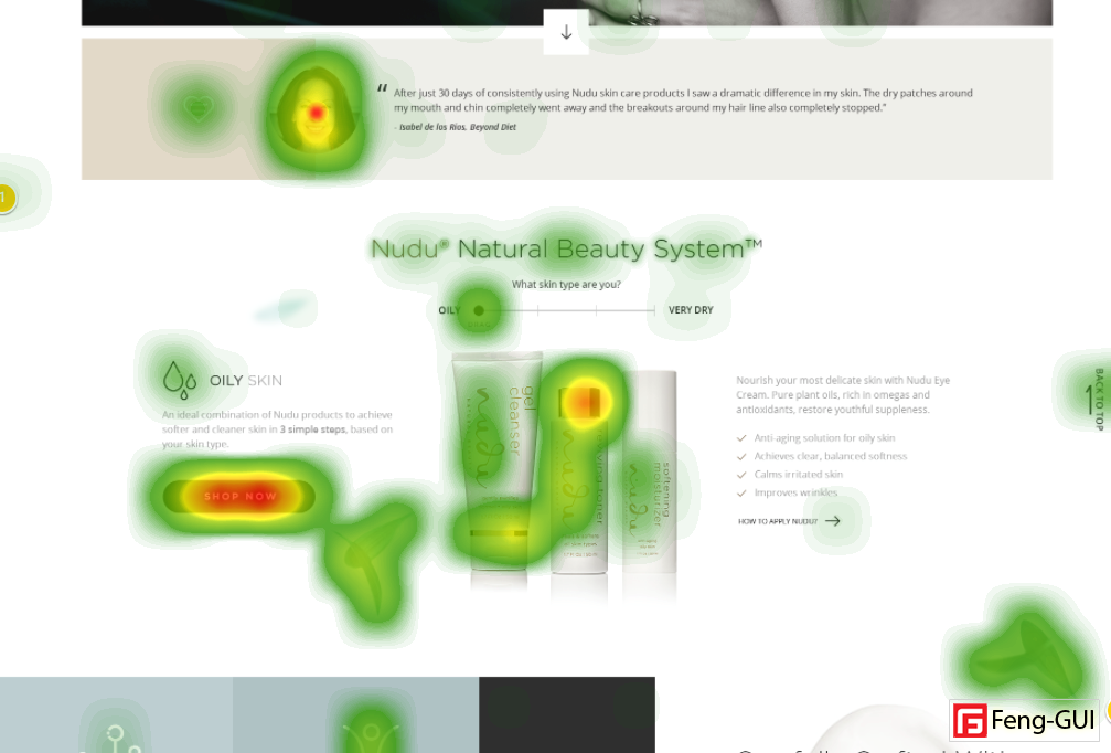 Nudu Feng-Gui heatmapping