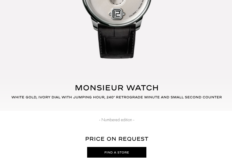 Chanel Monsieur Watch Ecommerce