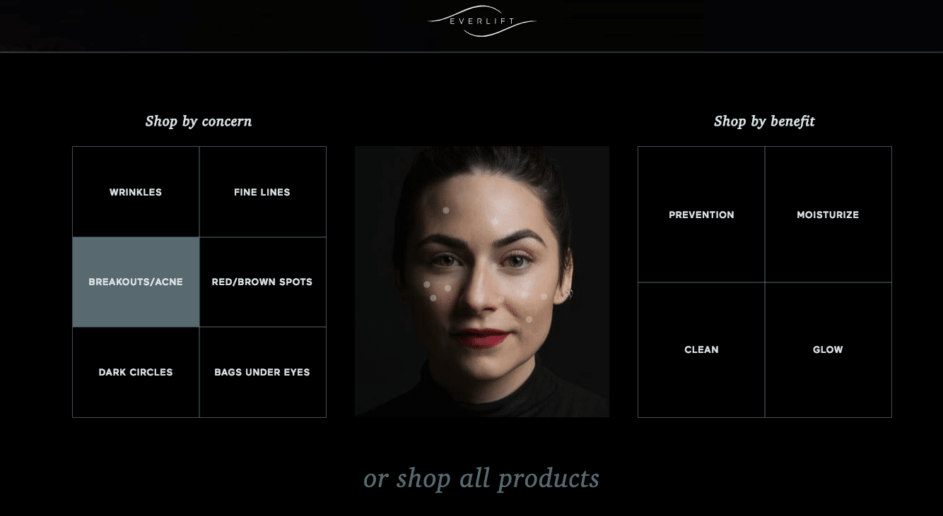 Shop skincare by concern and product benefits
