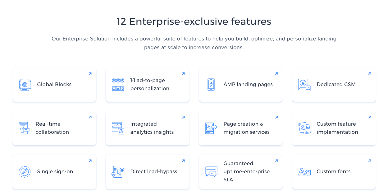 Instapage's Enterprise Features