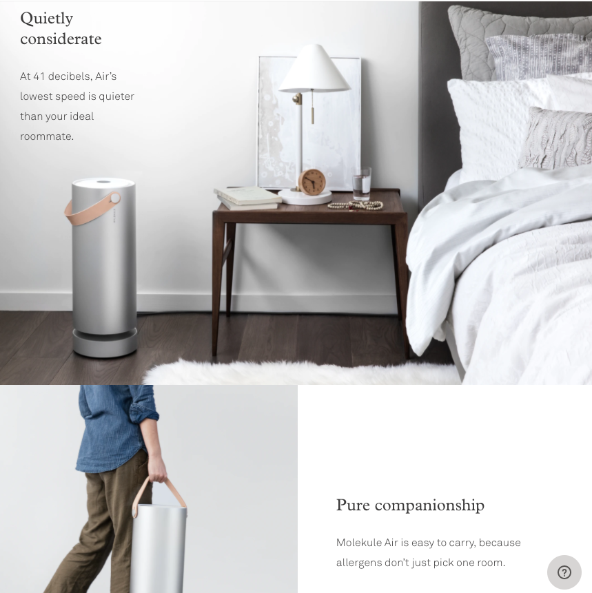 Lifestyle images on product page