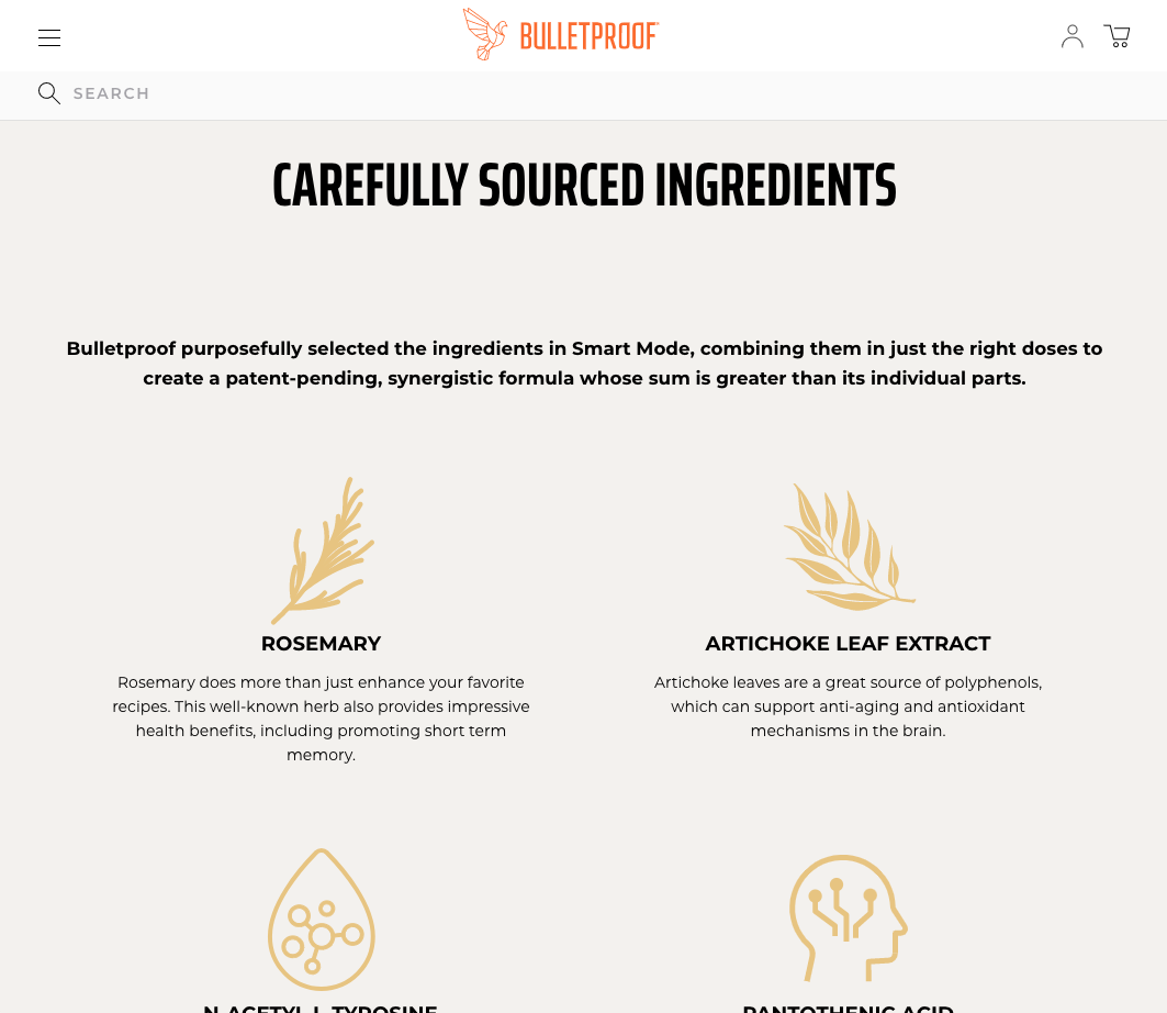 Bulletproof ingredients