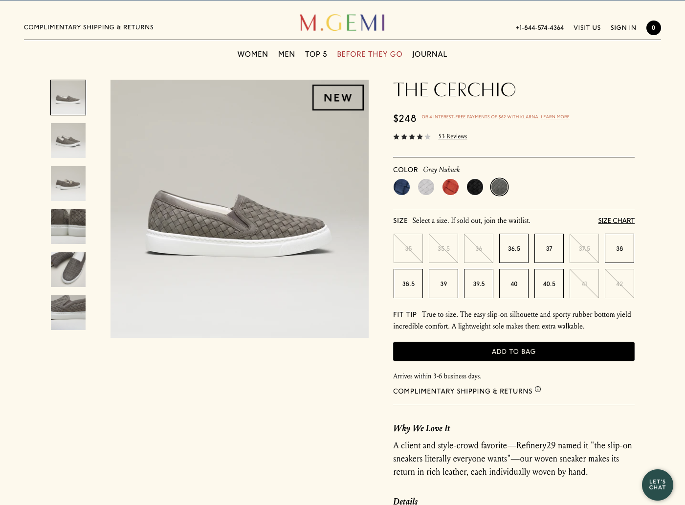 M. Gemi's Product Page