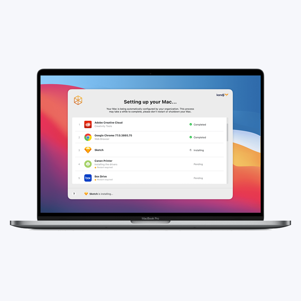When setting up a Mac at work, Kandji Liftoff aims to create the perfect first-day experience