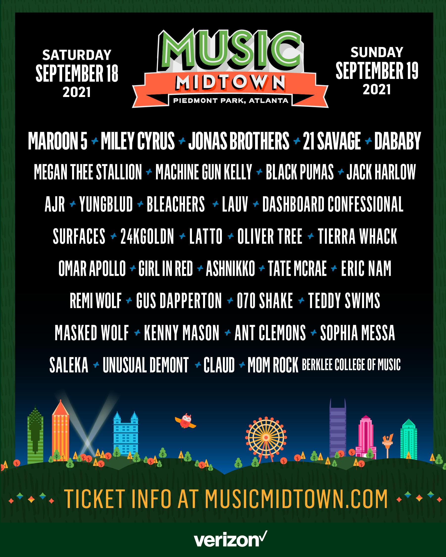 Music Midtown September 18 19 2021 Piedmont Park Atlanta Ga