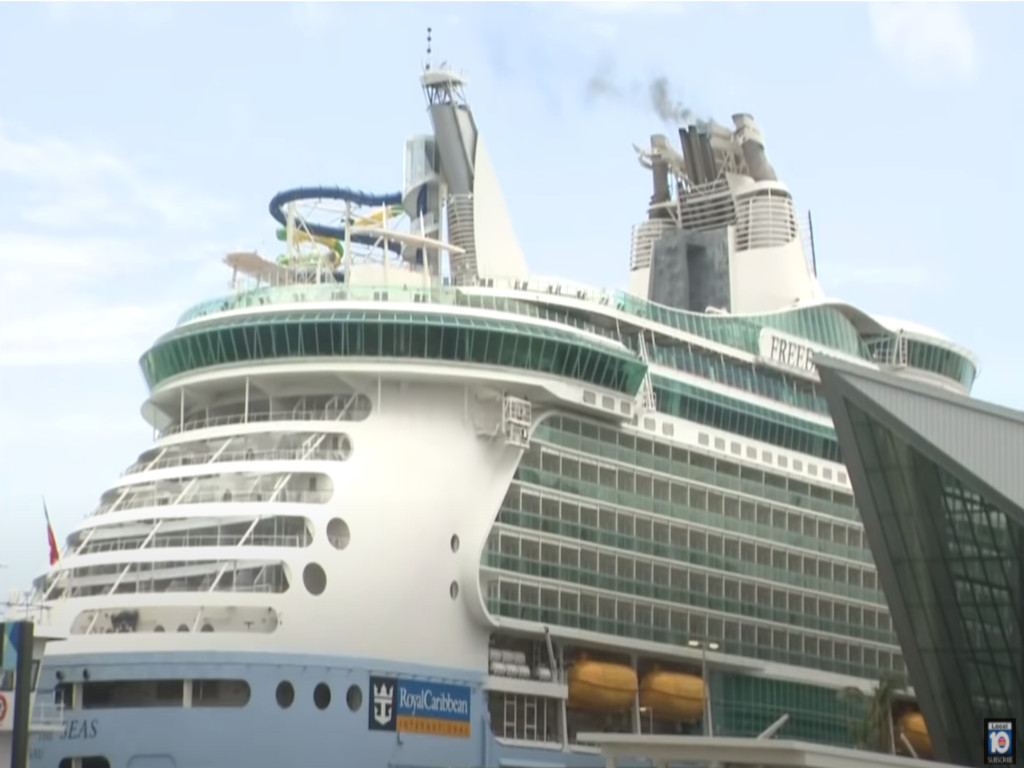 Volunteer passengers speak about simulated voyage aboard Freedom of the Seas ship
