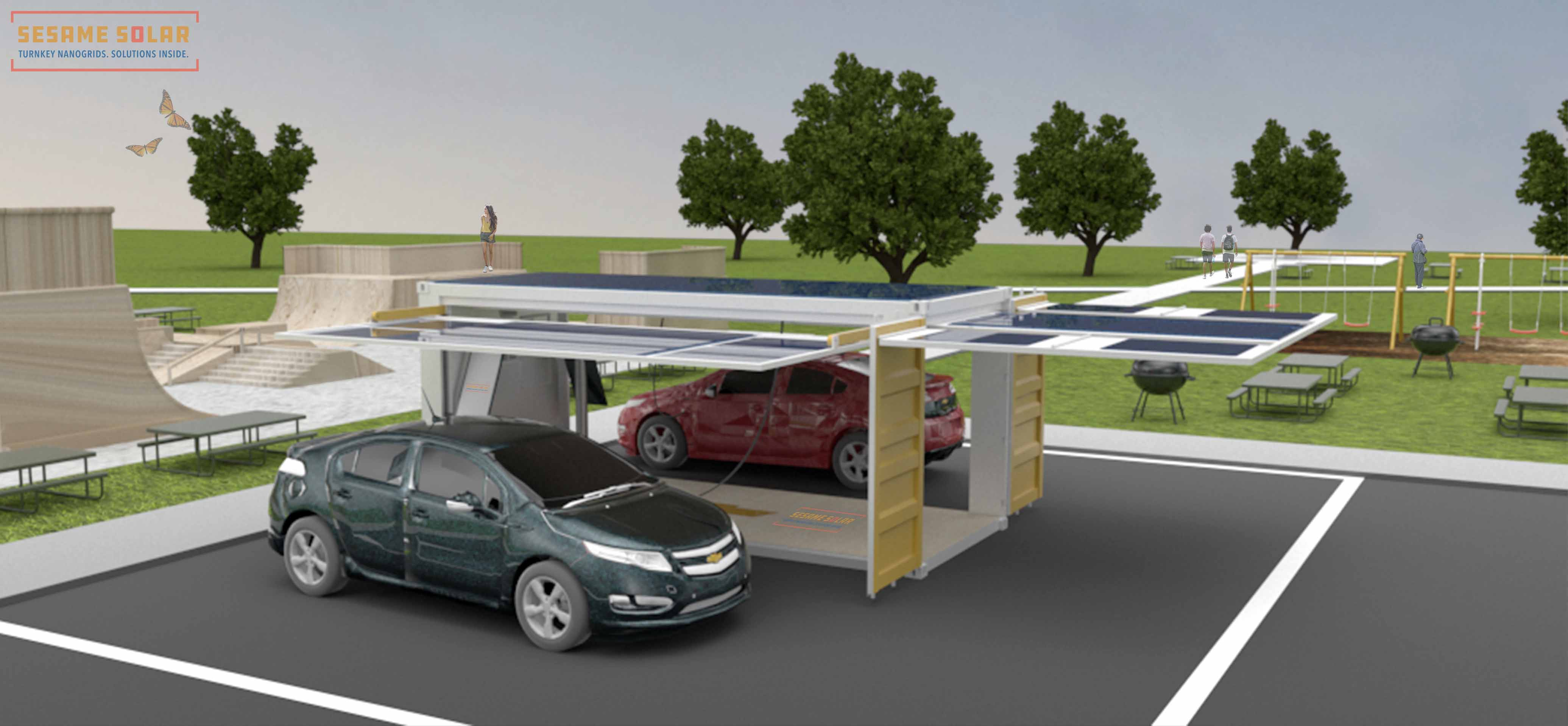 Sesame Solar Nanogrid EV Charging Solution