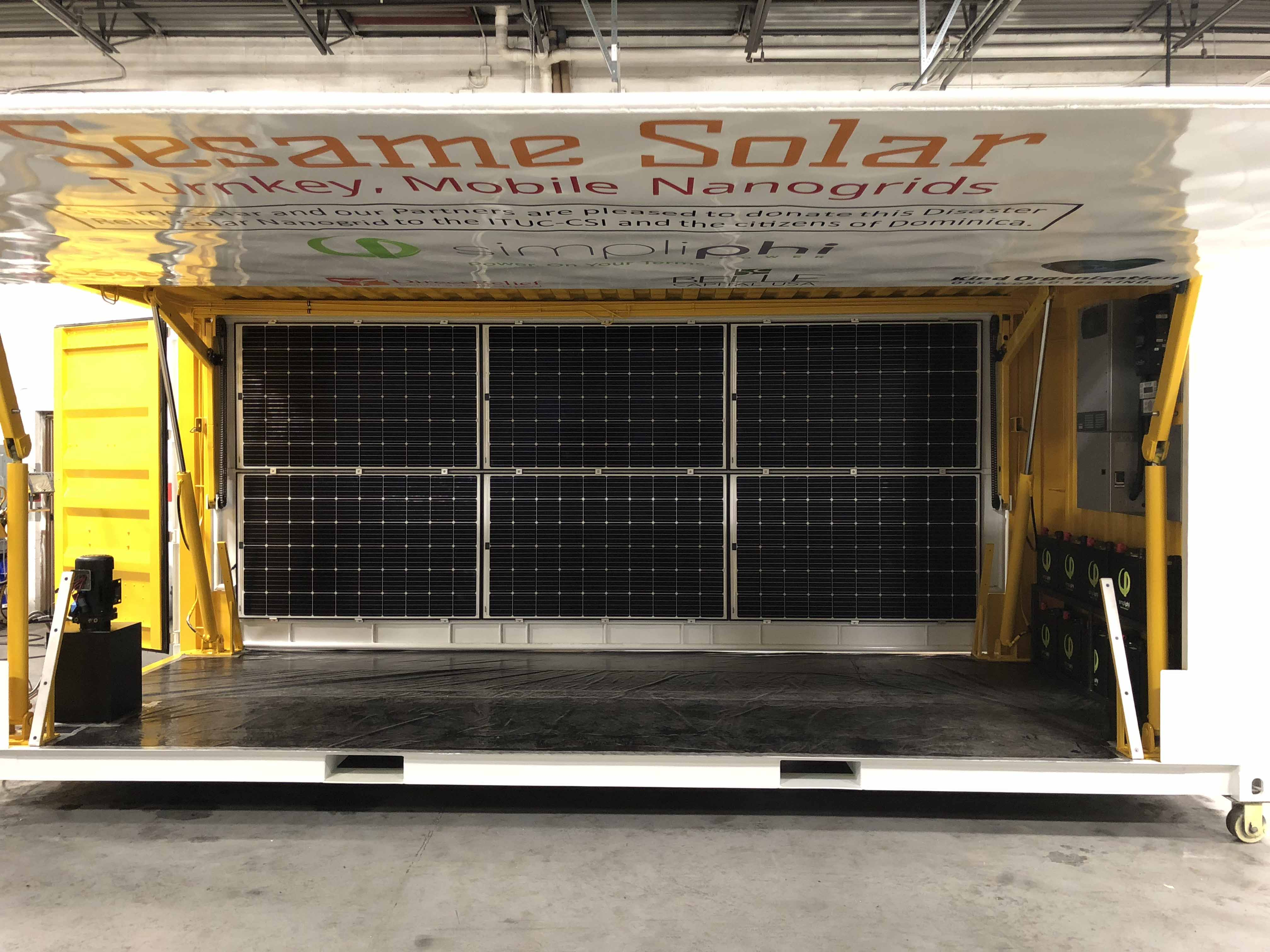 Sesame Solar Nanogrid Off Grid Power Solution