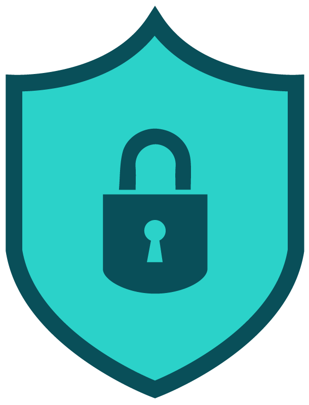 Lock and shield icon