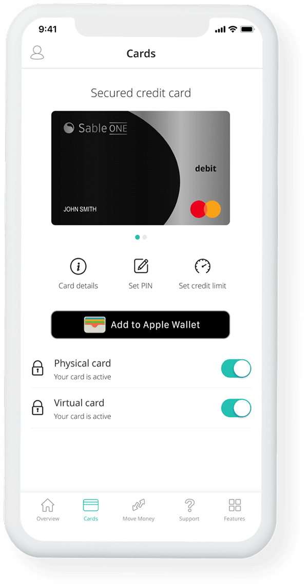 Use your Sable card with apple pay, samsung pay, or google pay