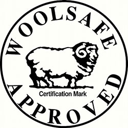 woolsafe approved badge