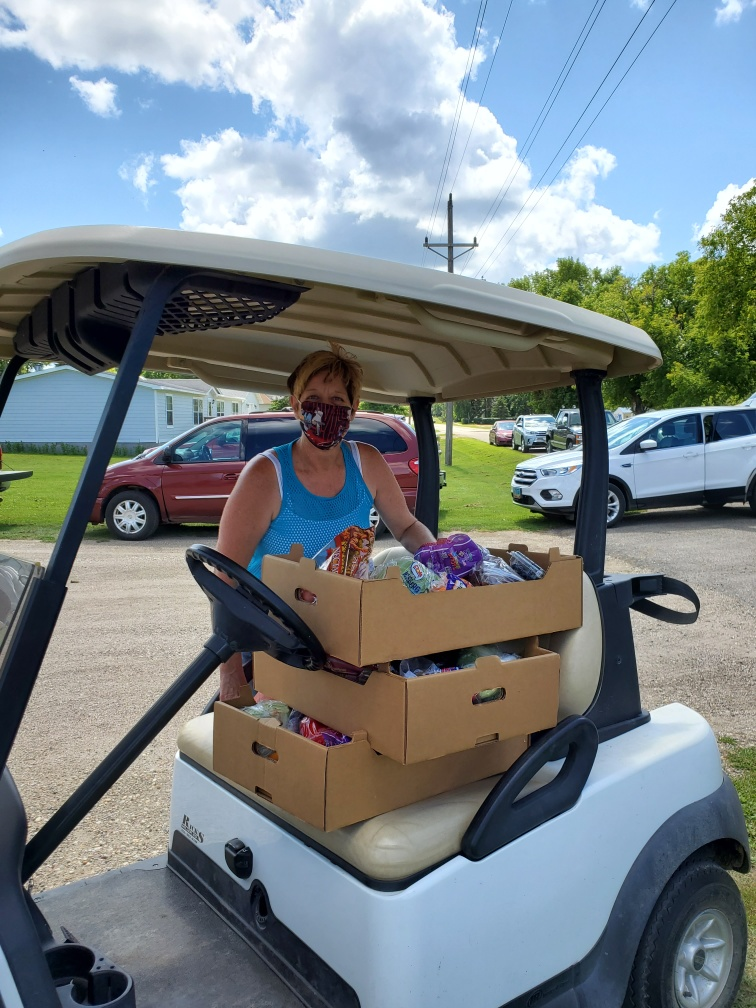 Food Distribution in the Jamestown area.