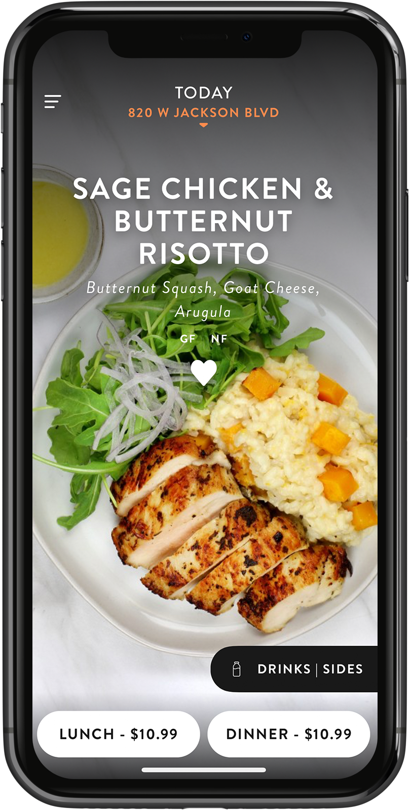 Eat Purely App on Iphone X