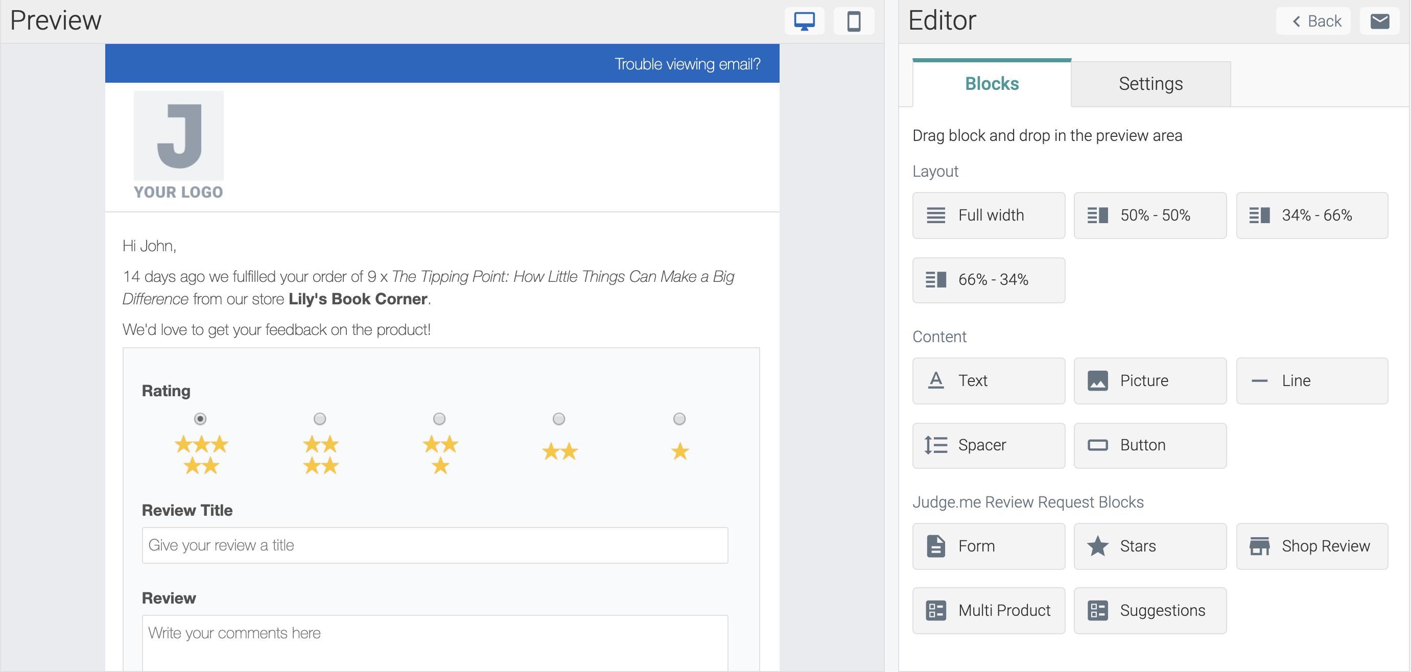 judgeme email templates blocks