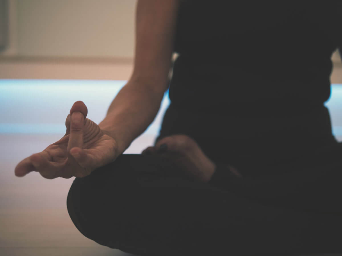 Meditating on the floor