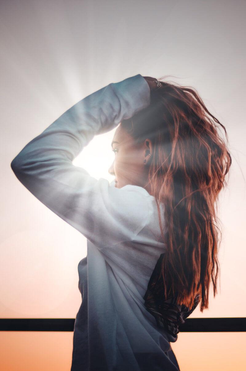 Beautiful hair in sunshine