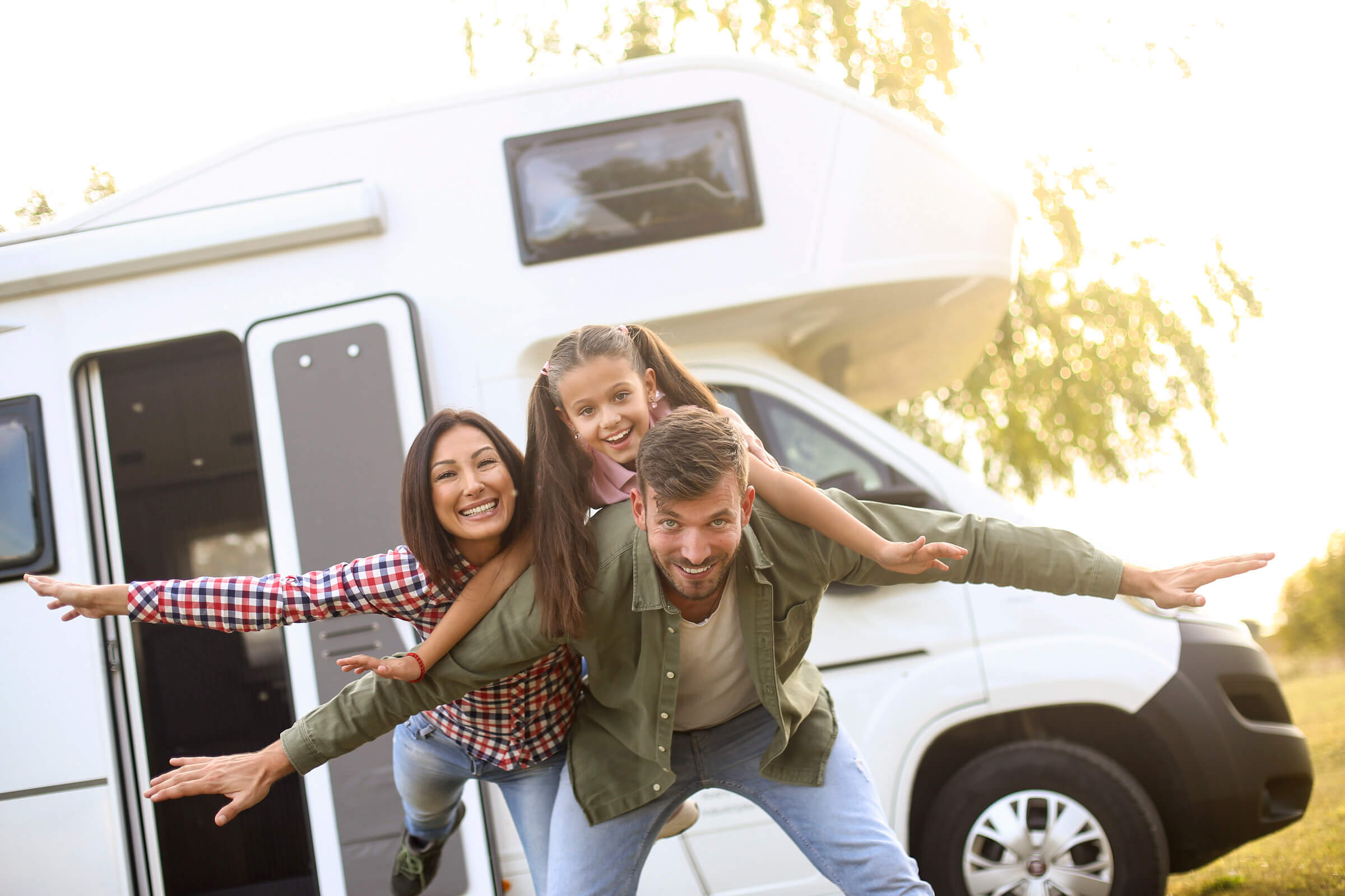 Family ready for their next four wheeled adventure, choosing from an extensive range of venture motorhomes