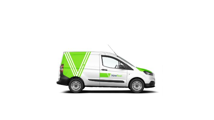 Small sign written van from hire fleet - Doncasters premium rental agency serving Yorkshire, Nottinghamshire & Lincolnshire