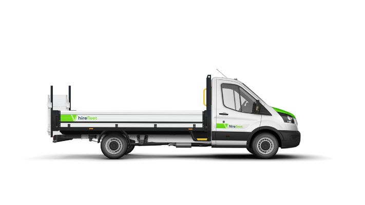Dropside van with tail lift from hire fleet - Doncasters No.1 rental agency serving Yorkshire, Nottinghamshire & Lincolnshire