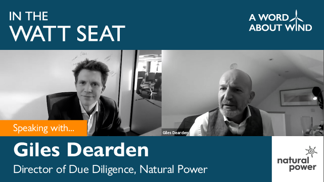 Giles Dearden - Director of Due Diligence, Natural Power