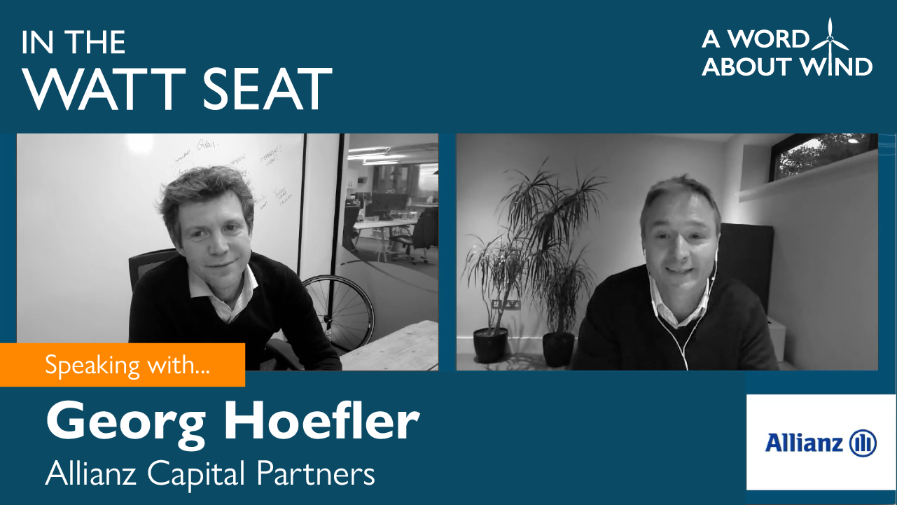 Georg Hoefler - Transaction Team Leader / Renewable Energy, Allianz