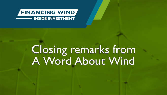 Closing remarks from A Word About Wind
