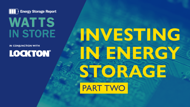 Investing in Energy Storage - Part 2
