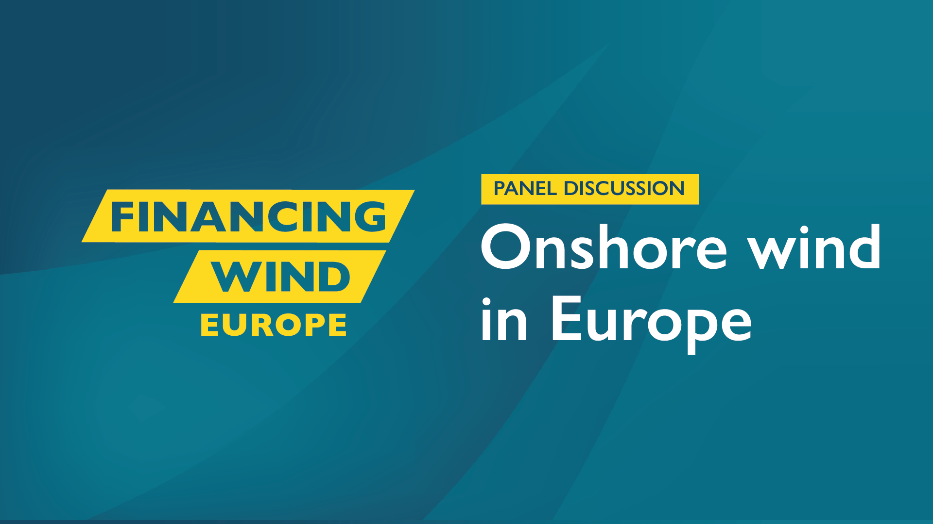 Panel Discussion: Onshore wind in Europe