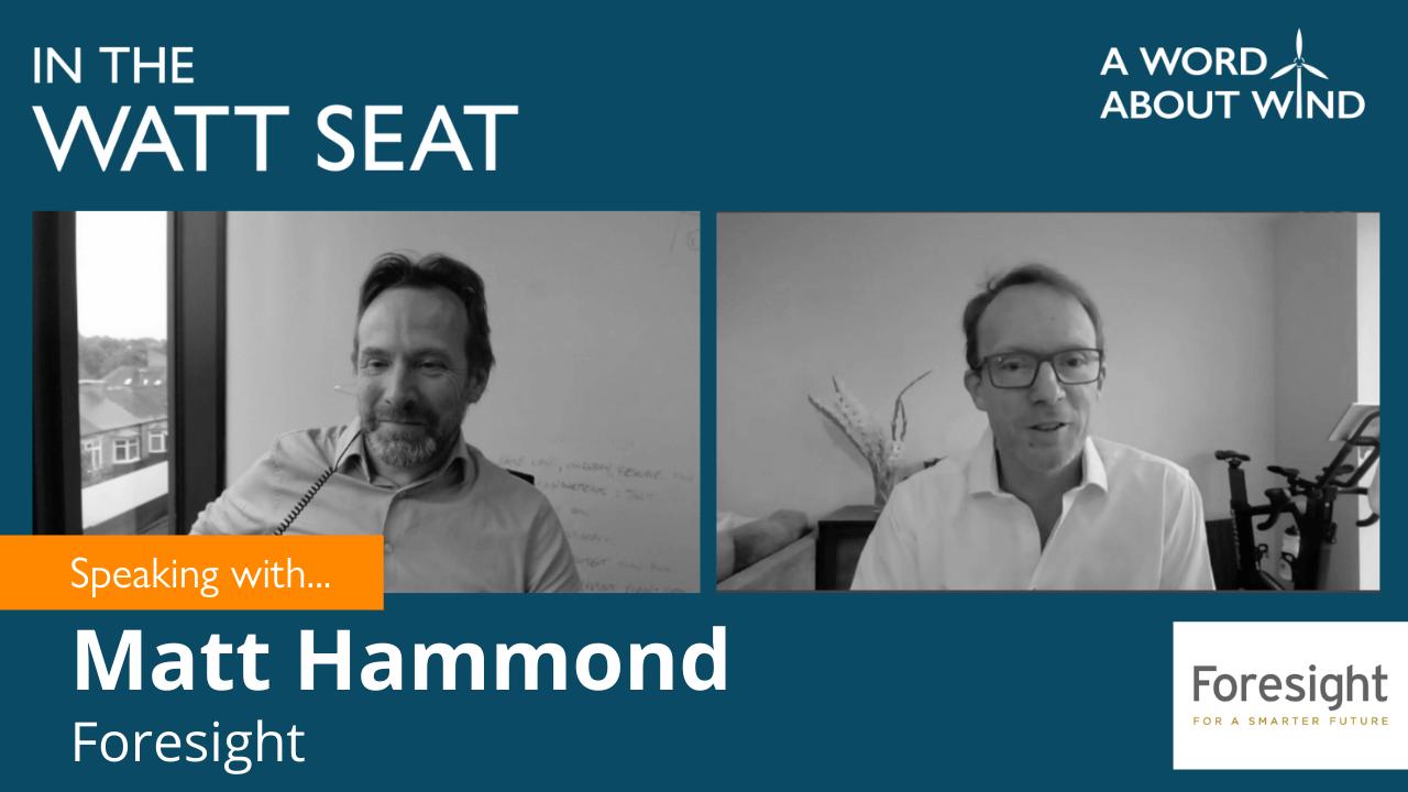 Matt Hammond, Partner, Foresight