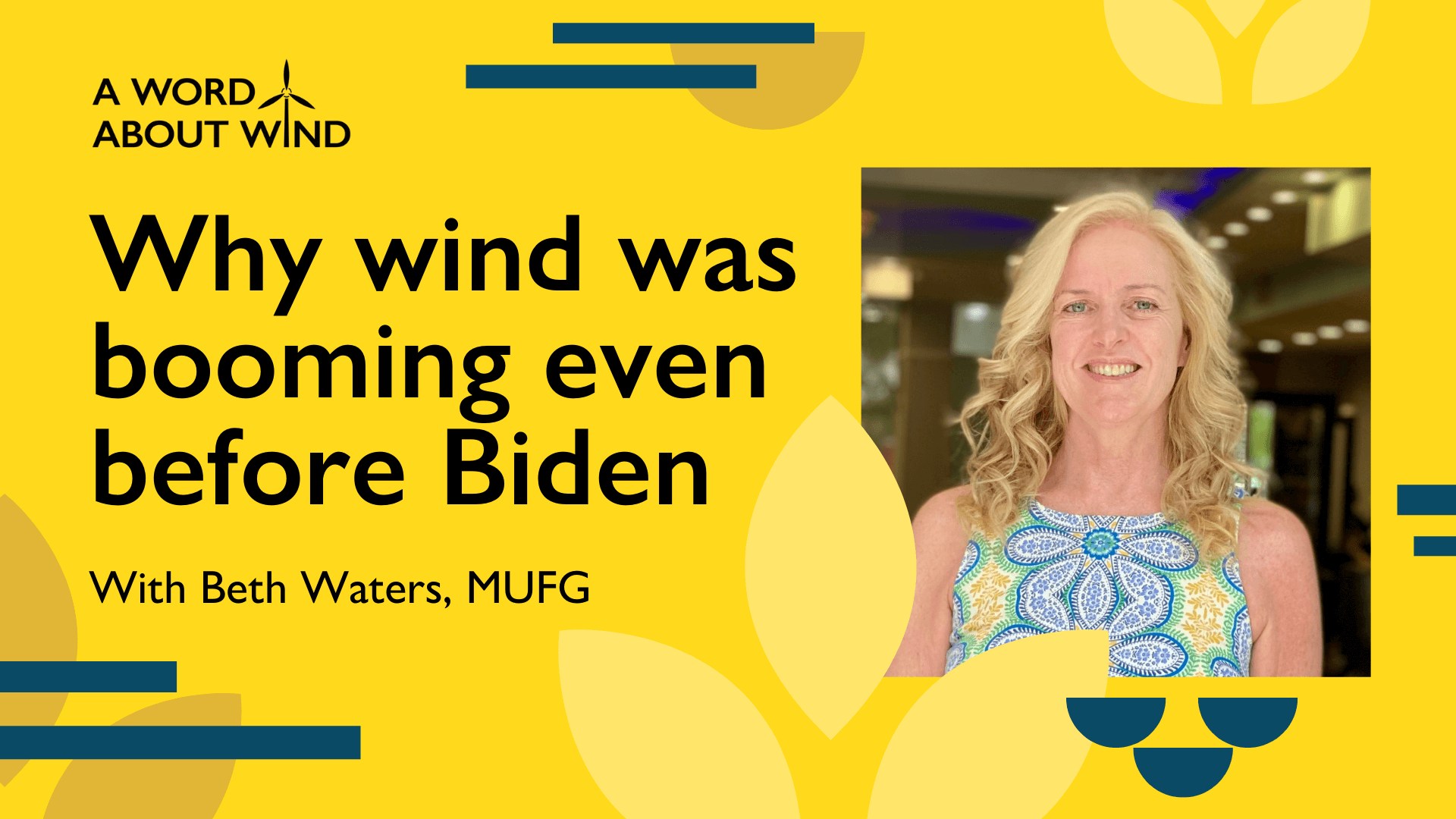 Beth Waters - Why wind was booming even before Biden