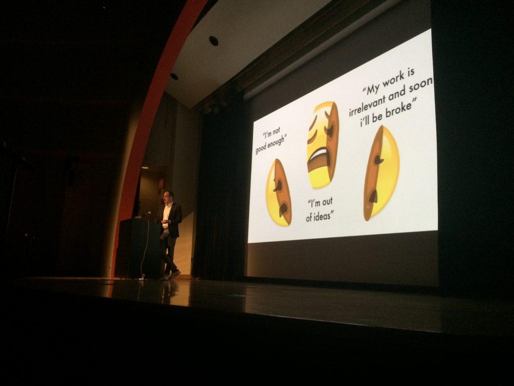 Illustrator Christoph Niemann at an AIGA NY talk