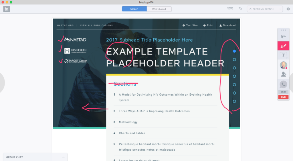 invision liveshare example