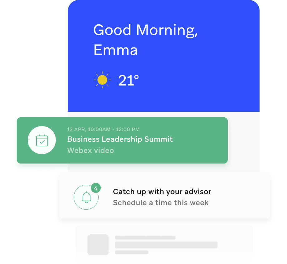 Student dashboard on campus app