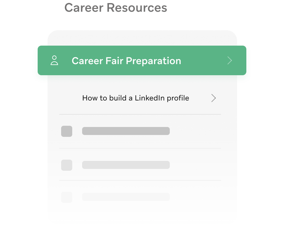 Important student resources on campus app