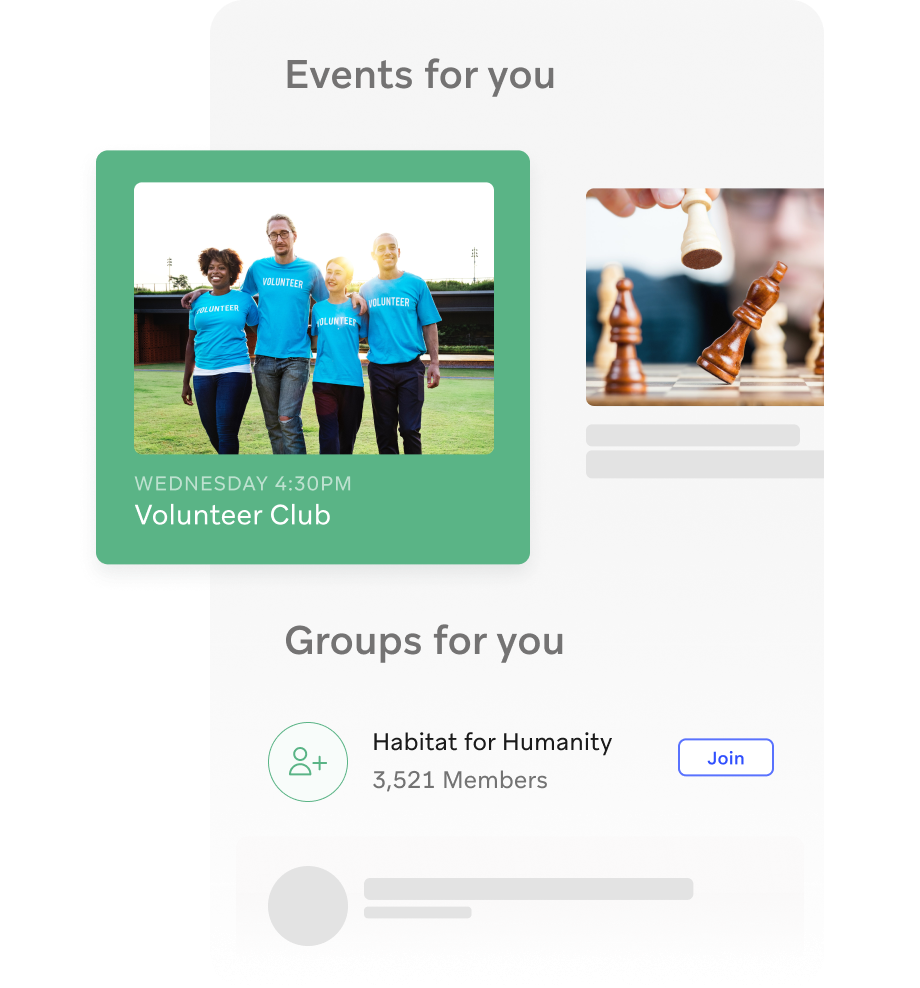 Personalized event & group recommendations
