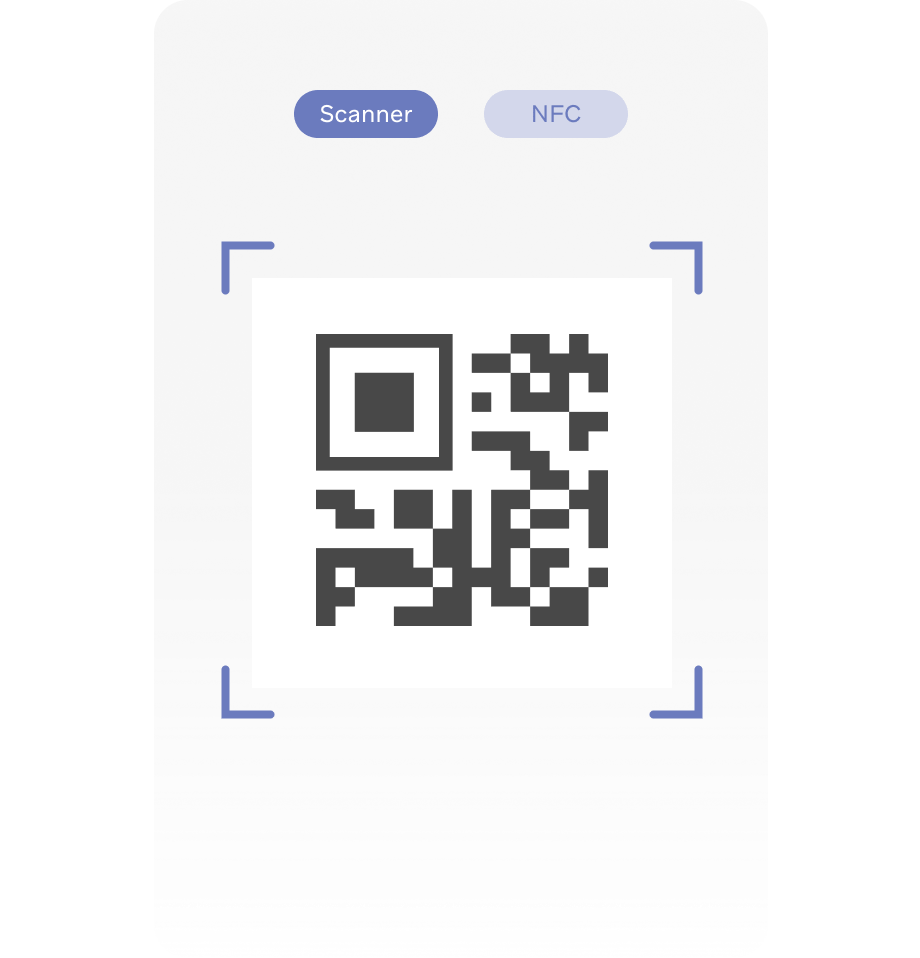 QR code scanning to track attendance
