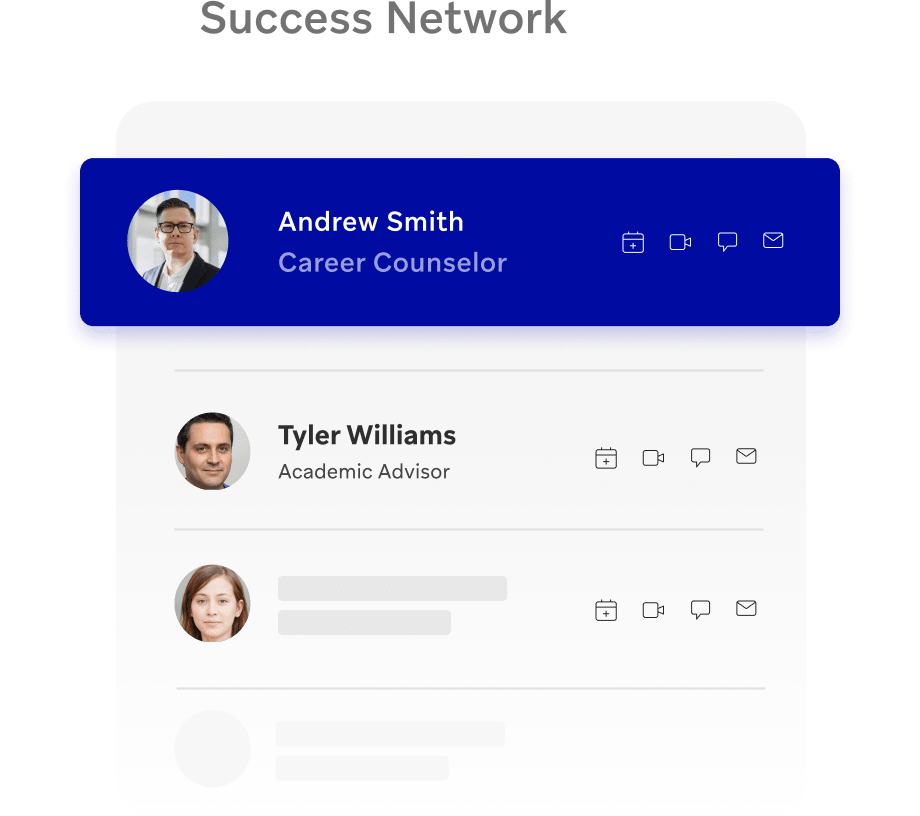 Personal success network for remote students