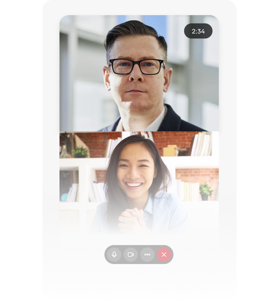 Video calling and messaging feature on student campus app