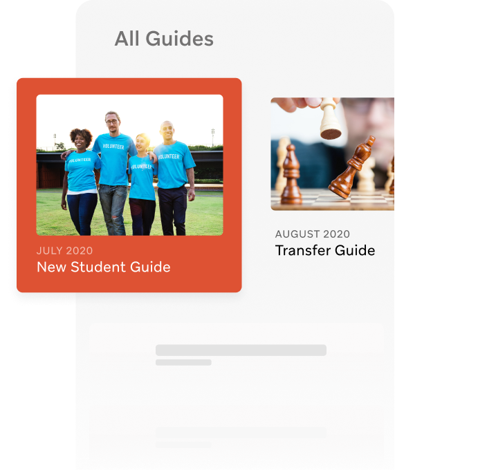 Personalized guides for new student orientation