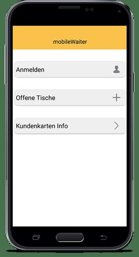 Smartphone für mobileWaiter App