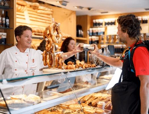 Bestellung für Lieferkunden in Bäckerei Fuchs