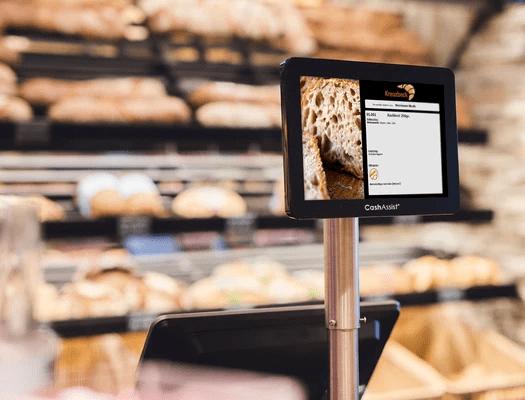 Service mit Bäckerei Kassensystem Display - Allergene direkt anzeigen