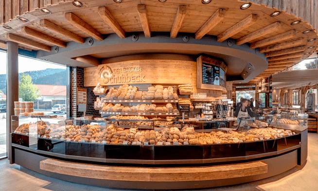 CashAssist Kassensysteme mit Breitbild-Kundendisplays in Der Bäcker Schuhbeck