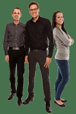 3 Mitarbeiter arbeiten für das Unternehmen