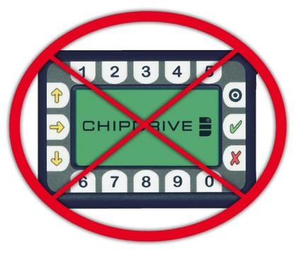 Chipdrive-Zeitterminals am Ende