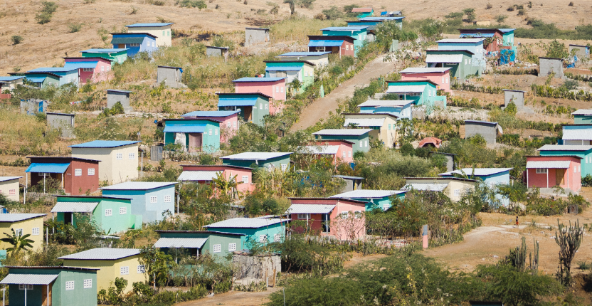 A set of houses build by the non-profit