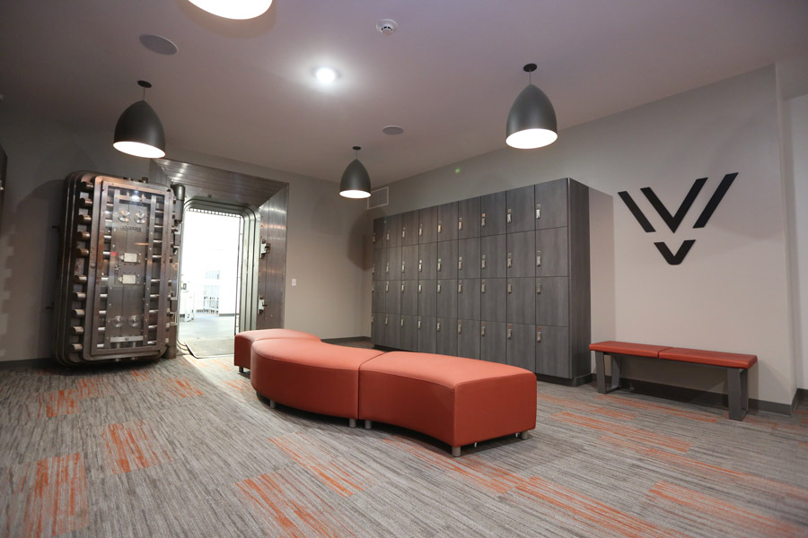 Vault's lockers and common area