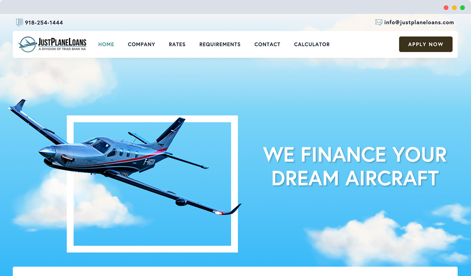 Just Plane Loans